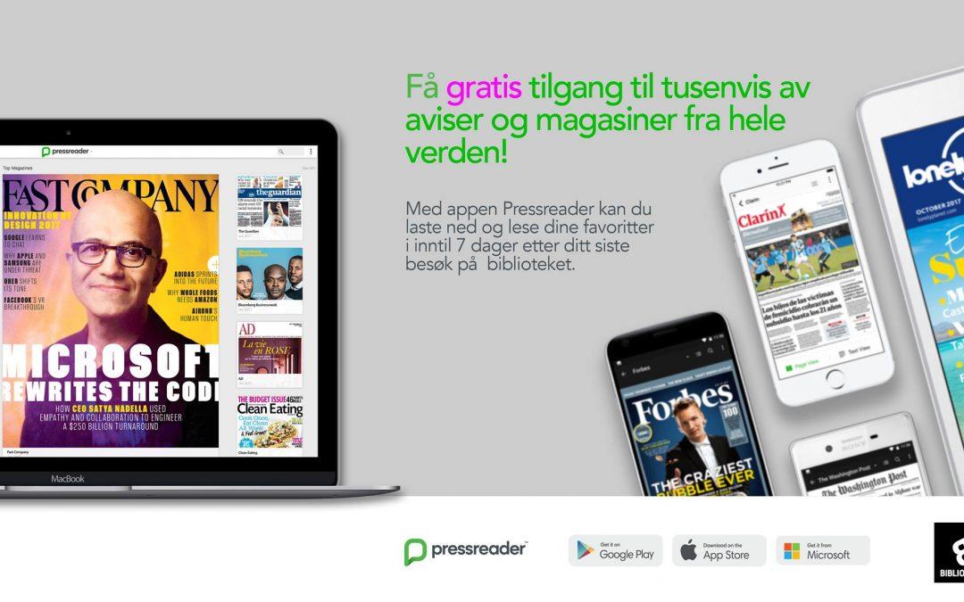 Pressreader – få nyheter fra hele verden til din smarttelefon